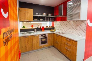 Современная кухня модерн Лофт в сером